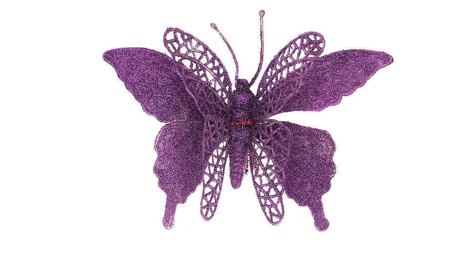 ... Festive Butterfly Style Christmas Tree Decoration (2-Pack)