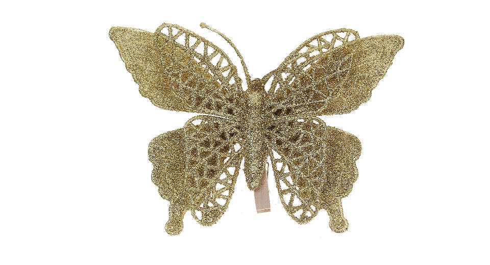 ... Festive Butterfly Style Christmas Tree Decoration Clip-on Ornaments (3-Pack)