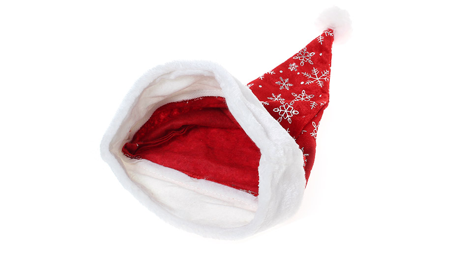 Snowflake Pattern Cotton Christmas Party Santa Claus Hat
