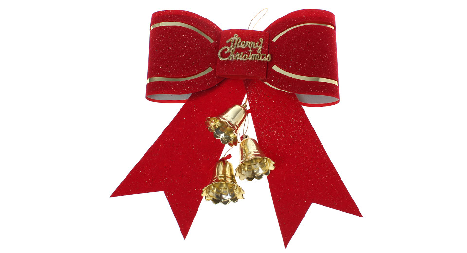 Festive Bowknot Style w/ Bells Christmas Tree Decorations Hanging Ornament