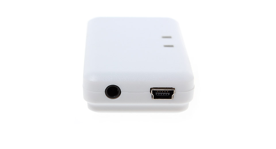 H166 Bluetooth V2.1 Music Receiver white / w/ Mini-USB