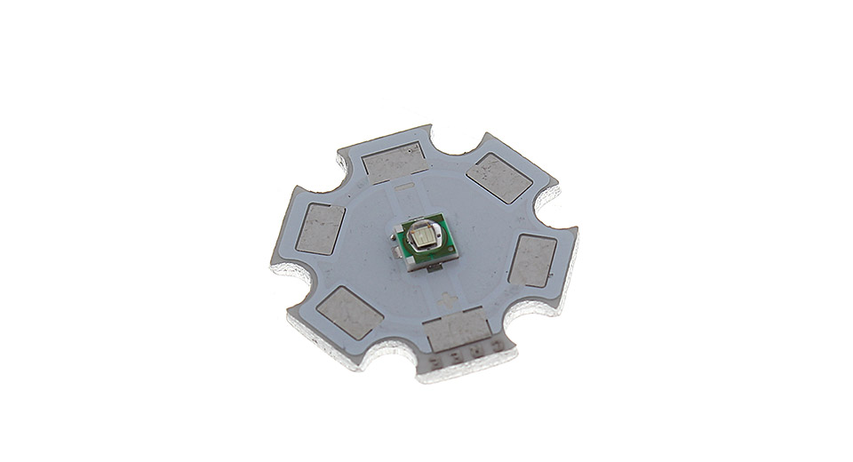 Cree XP-E 3W 520-530nm Green Light LED Emitter on 20mm