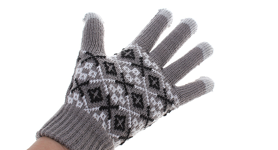 5-Finger Capacitive Screen Touching Hand Warmer Gloves