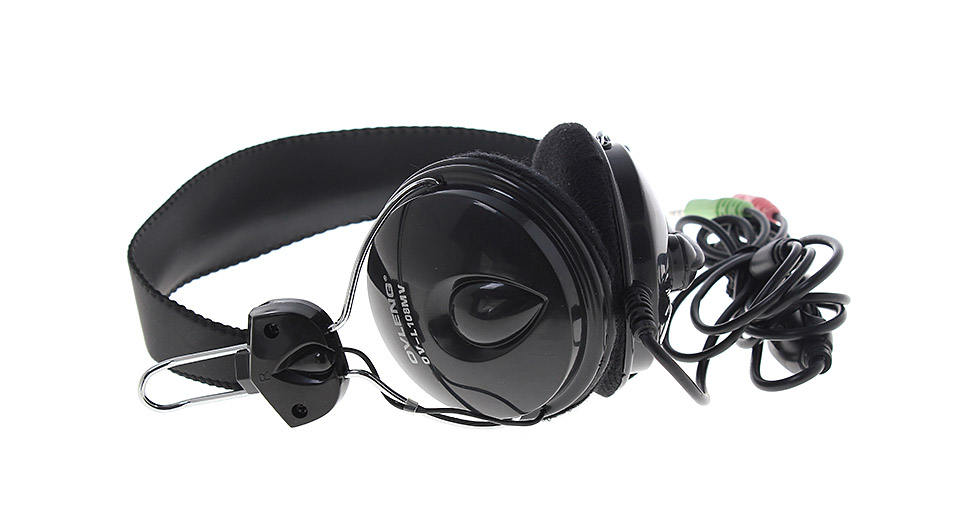 OVLENG OV-L108MV Wired PC Headset w/ Microphone black /