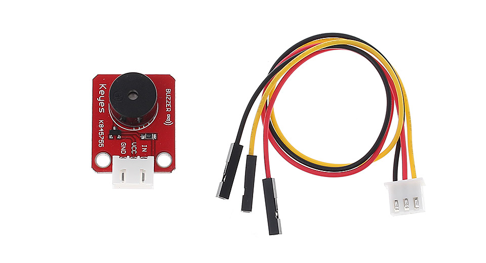 Ac Voltage Sensor Module Zmpt101b Single Phase moreover Arduino Buzzer together with Index furthermore Arduino Uno Starter Kit Set together with Image Sound Buzzer. on active piezo buzzer module