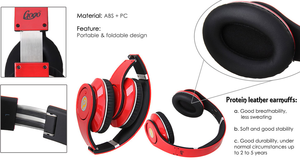 Authentic Syllable G04-201 Folding Headphones w/ Microp