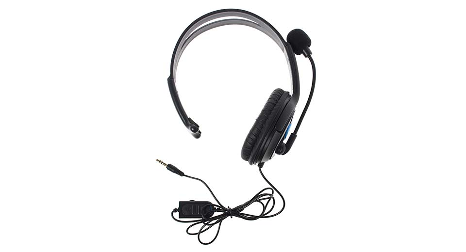 Solo Wired Gaming Chat Headset w/ Microphone for PS4 bl