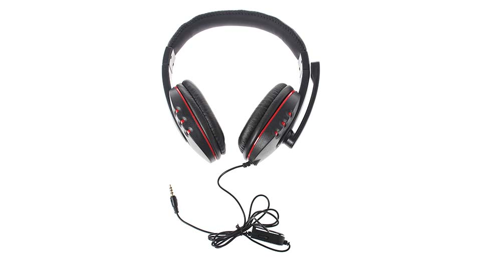 Wired Gaming Chat Headset w/ Microphone for PS4 / PC bl