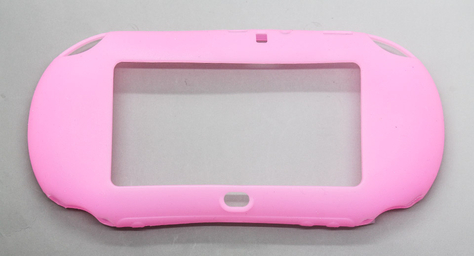 Protective Silicone Cover Case for PS Vita pink