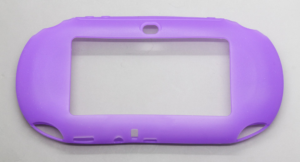 Protective Silicone Cover Case for PS Vita purple