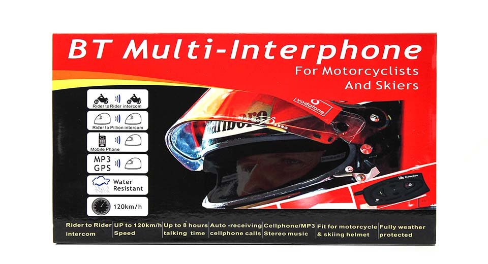 V2-500 500M Motorcycle Helmet Bluetooth Interphone w/ H