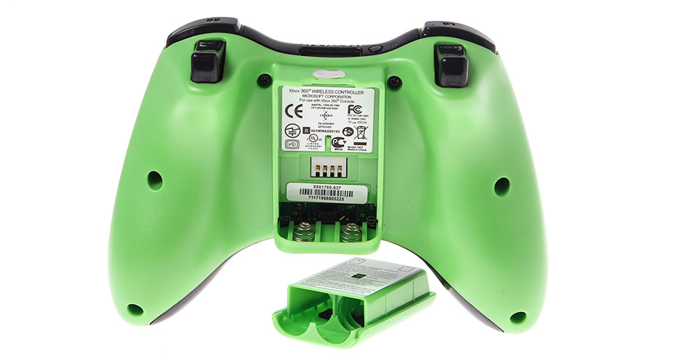 2.4GHz Wireless Controller for Xbox 360 green / 2*AA