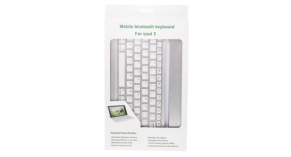 939793f32c1 $22.31 Bluetooth V3.0 82-Key Keyboard for iPad Air - white at ...