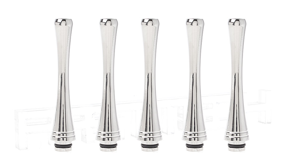 65mm Long Stainless Steel 510 Drip Tips (5-Pack)