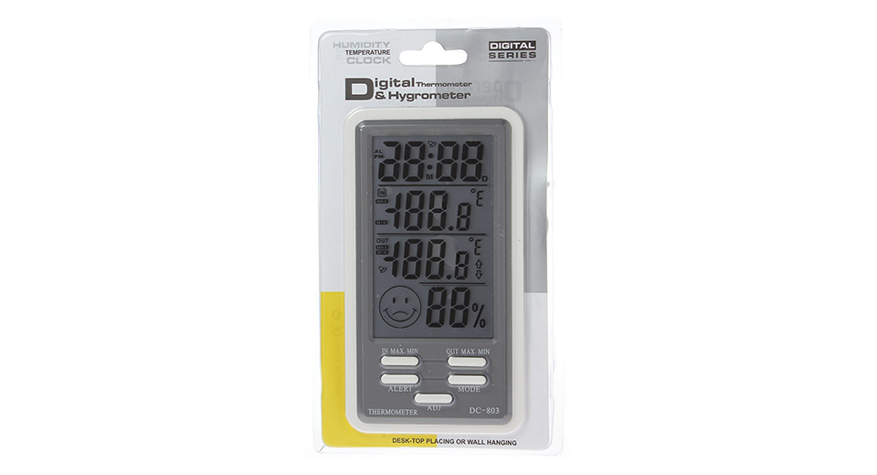 $8.26 DC803 Indoor / Outdoor Digital Thermometer and Hygrometer ...