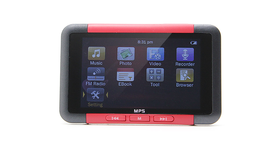 "LA2-8R 3.0"" TFT-LCD MP5 Multimedia Player (8GB) red / F"
