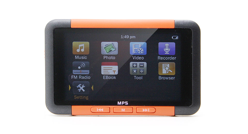 "LA2-8R 3.0"" TFT-LCD MP5 Multimedia Player (4GB) orange"