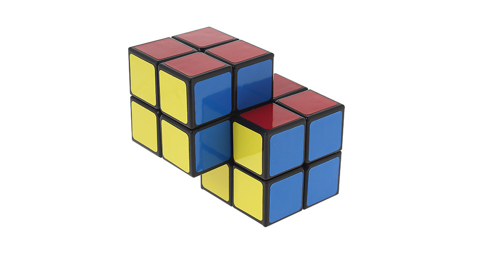 Dual Conjoined 2x2x2 Speed Puzzle Siamese Cube black
