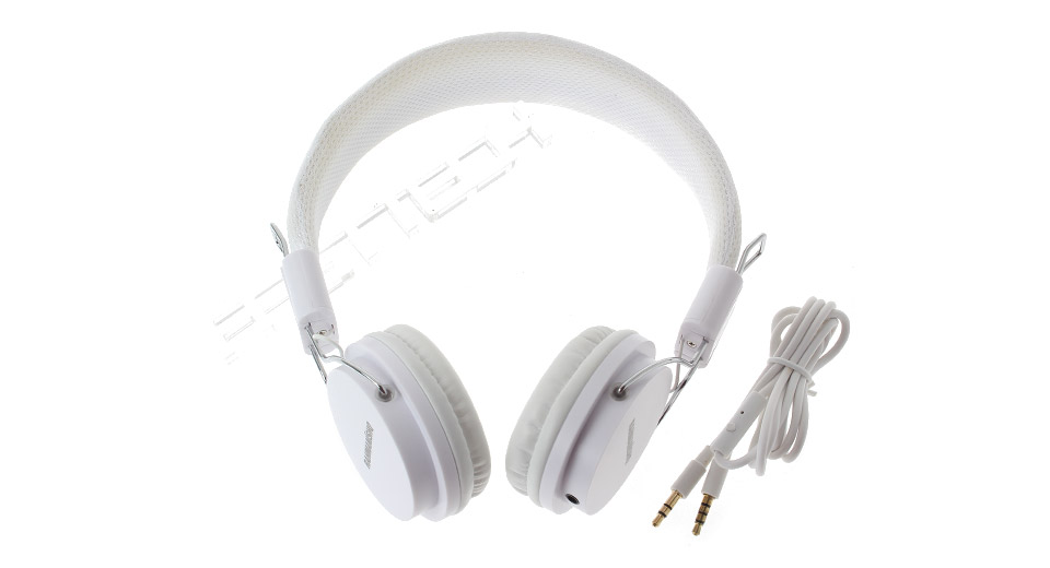 EX09i Folding 3.5mm Aux-in Headphone white