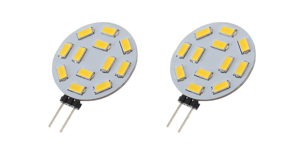 G4 1.7W 12-SMD5730 460LM 2800-3200K Warm White LED Ligh