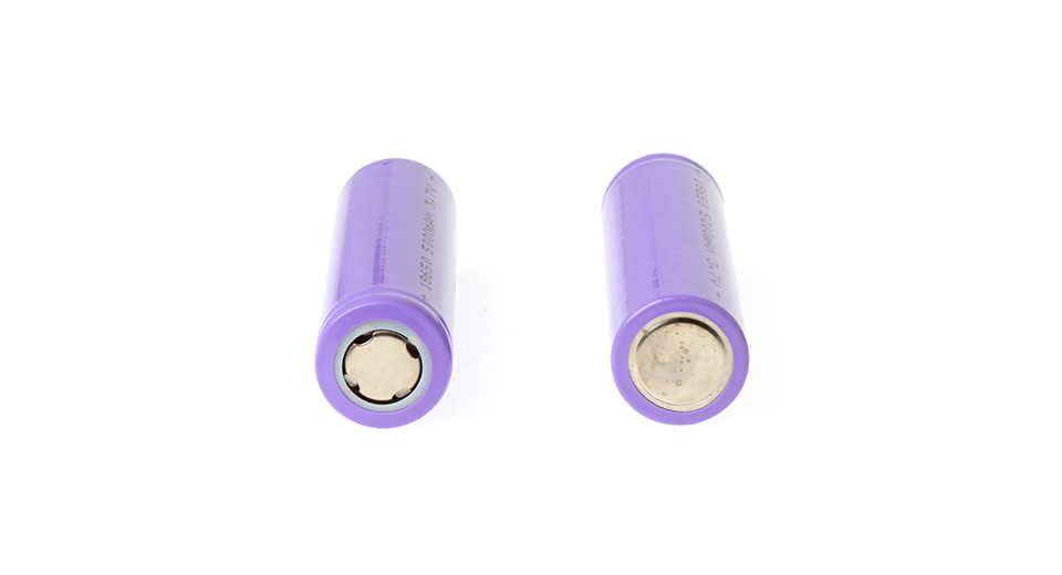 "BRC18650 3.7V ""5000mAh"" Rechargeable Li-Ion Batteries ("