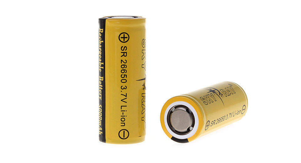 Product Image: sky-ray-sr-26650-3-7v-5000mah-rechargeable-li-ion