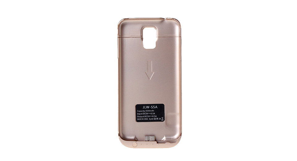 3500mAh Rechargeable External Battery Back Case for Samsung S5 i9600