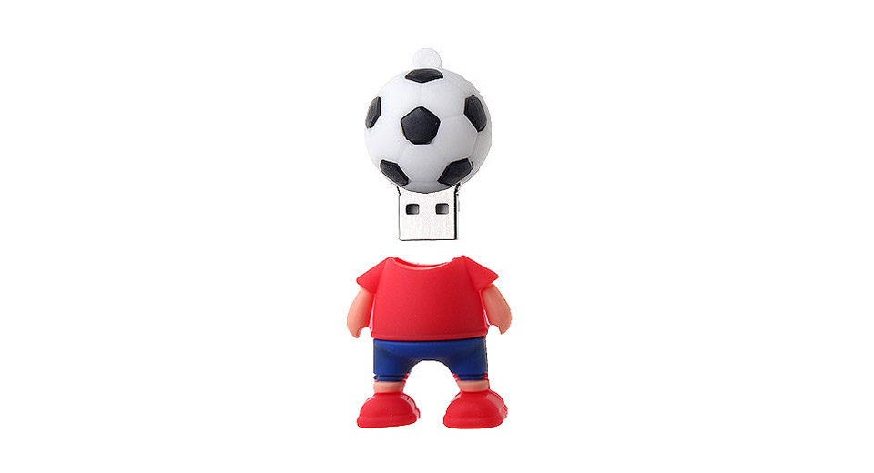 ZQR-1 16GB The World Cup Footballer Shaped USB 3.0 Flas
