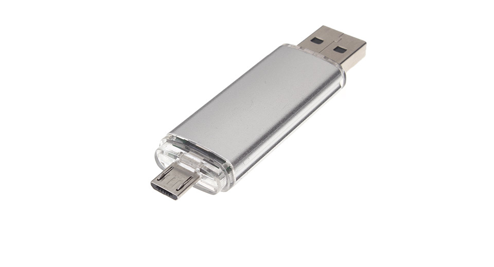 32GB USB 2.0 + Micro-USB OTG USB Flash Drive