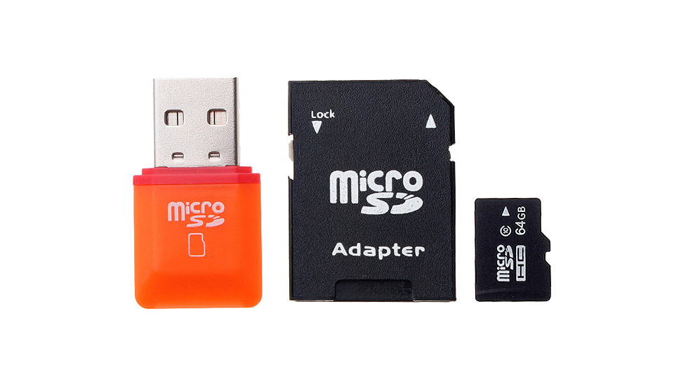 Product Image: 64gb-microsdhc-memory-card-w-card-adapter-and