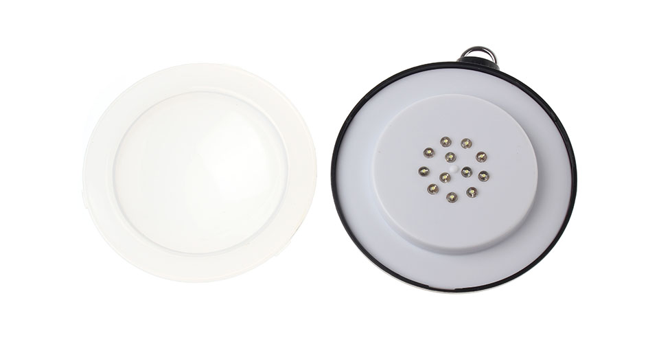 Outdoor 3W 12-LED 200LM 2-Mode Pure White LED Round Camping Lantern