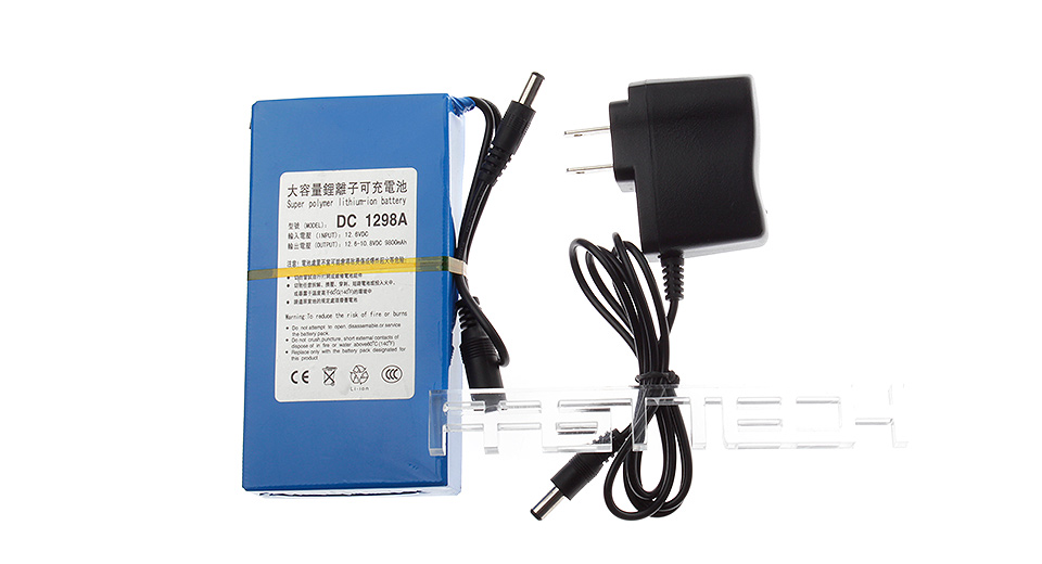 Product Image: dc-1298a-12-6v-9800mah-rechargeable-li-ion