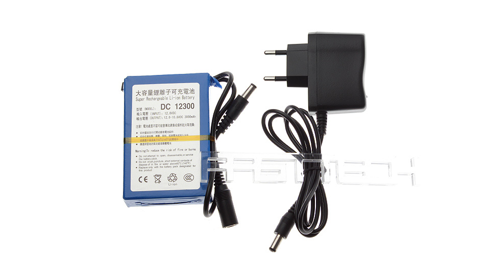 Product Image: dc-12300-12-6v-3000mah-rechargeable-li-ion