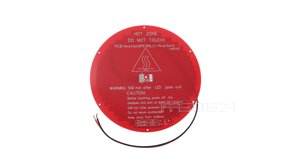 DIY Round Shaped PCB Heated Bed Hot Plate for Delta Rostock 3D Printer