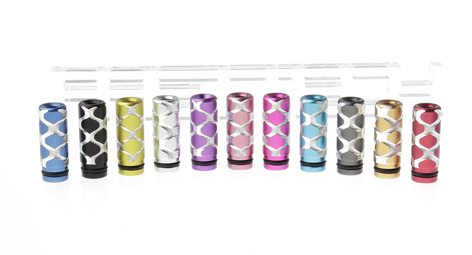 Product Image: hexagons-pattern-anodized-aluminum-510-drip-tip