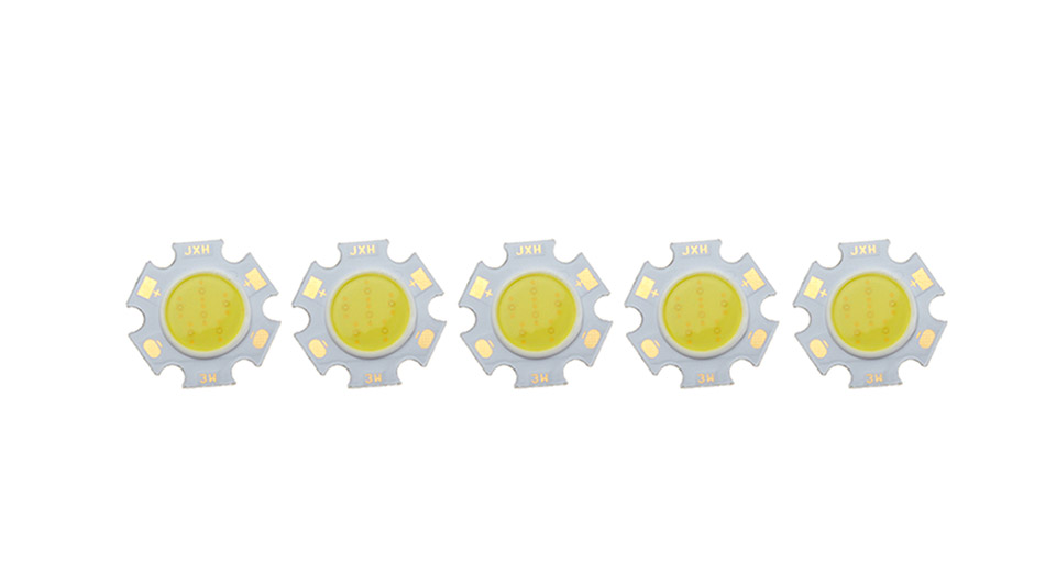 2.75W 1*COB 300-Lumen 6500K Pure White LED Light Source Module (5-Pack)