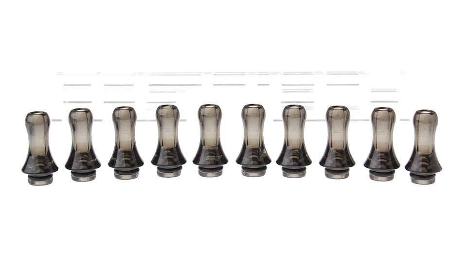 Acrylic Round Mouth 510 Drip Tip (10-Pack)