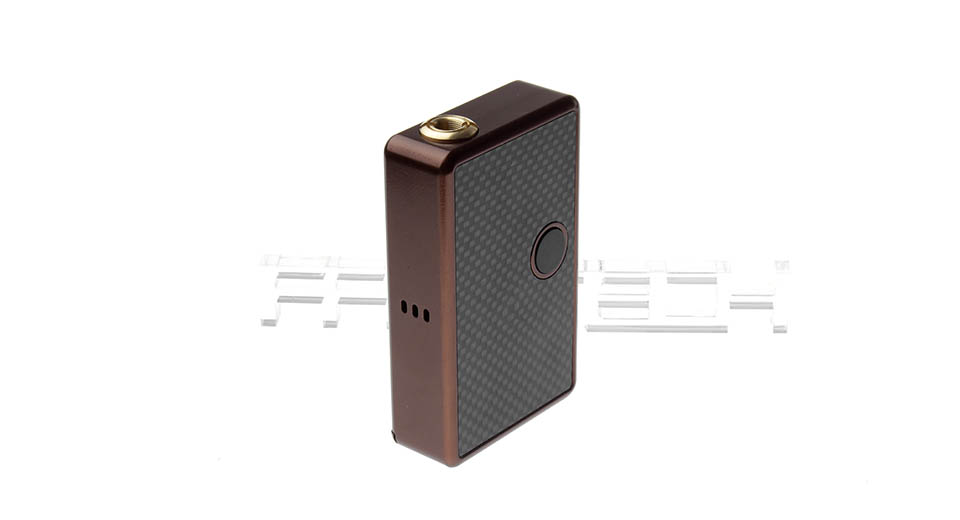 $53.01 Billet Box Style Variable Voltage APV Box Mod - works w/ 510 threaded atomizers / 2*16340 / brown at FastTech - Free Shipping