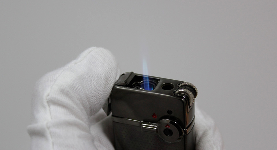 JOBON Fling Series ZB-939-1 Dual Flame Refillable Butane Gas Lighter