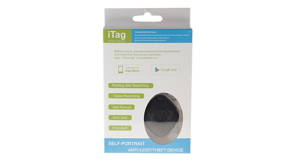iTag YU-02 Bluetooth V4.0 Self-Timer / Anti-Lost Alarm Device