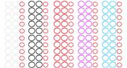 Colorful Silicon Seal Ring Set for SUBTANK Nano (50-Set)