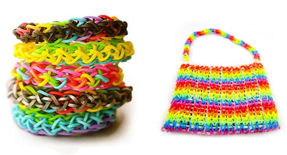 Colorful Rainbow Loom Refill Rubber Bands For Bracelet Diy 300 Pieces