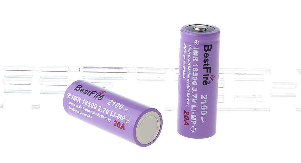 Product Image: bestfire-imr-18500-3-7v-2100mah-rechargeable-li