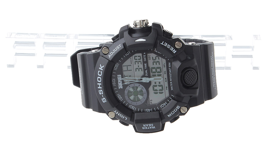 Skmei 1029 Multifunctional Unisex Sports Waterproof LCD Display Wrist Watch