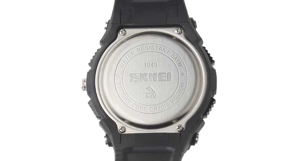 Skmei 1049 Solar Power Men's Waterproof Analog + LED Digital Dual Mode Wrist Watch