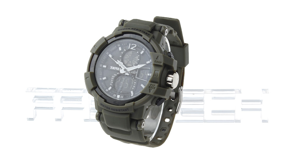 Skmei 1040 Men's Waterproof Analog + LED Digital Dual Mode Wrist Watch