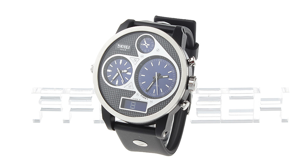 Skmei 1033 Men's Waterproof Analog + Digital Dual Mode Wrist Watch