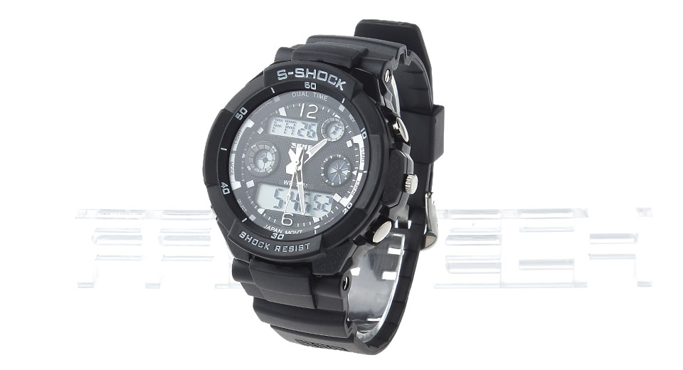 Skmei 0931 Men's Sports Waterproof Analog + LED Digital Dual Mode Wrist Watch