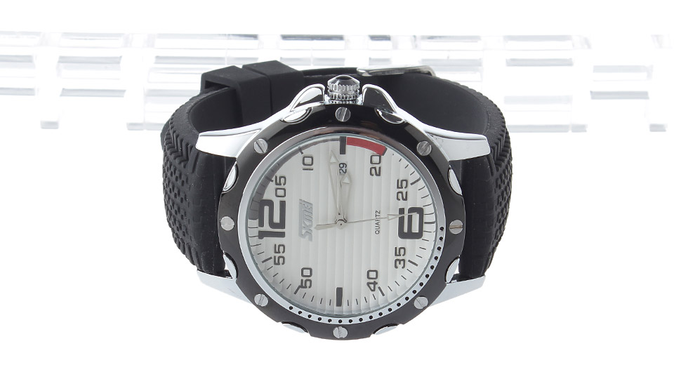 Skmei 0992 Men's Waterproof Quartz Wrist Watch w/ Calendar