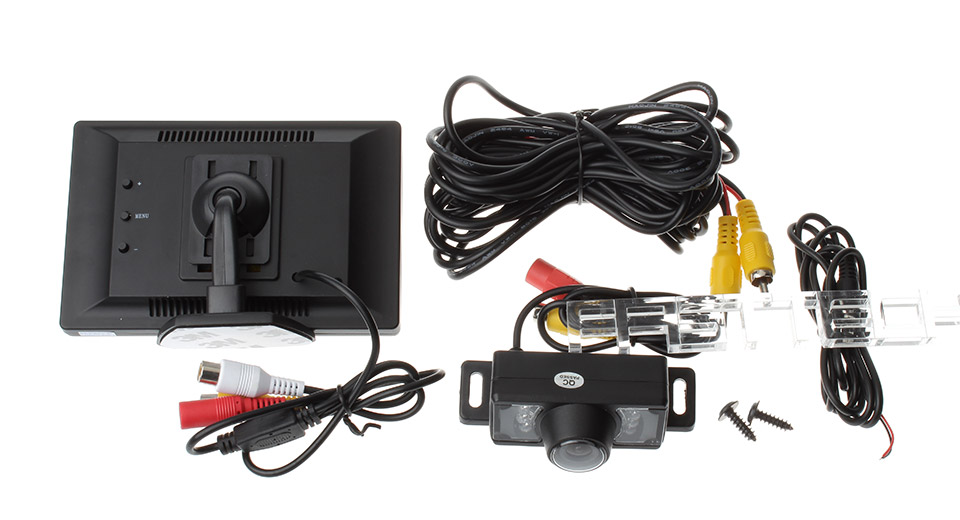 "5"" TFT LCD Car Rearview Monitor + Camera w/ Short Bracket Kit"